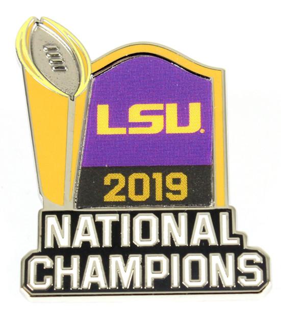 2020 LSU Tigers BCS National Champs Trophy  Pin