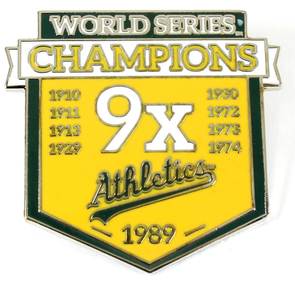 Oakland A's 9-Time World Series Champions Pin - Limited 1,000