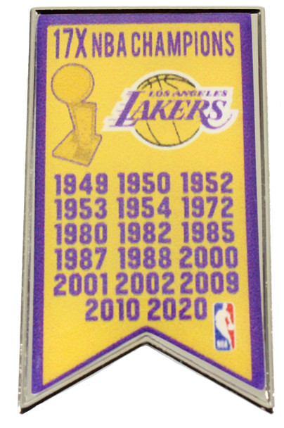Los Angeles Lakers 17-Time NBA Champs Pin