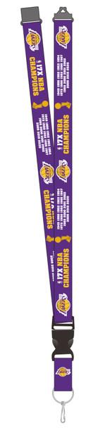 Los Angeles Lakers 2020 17-Time NBA Champs Lanyard- (Ships 11/15)