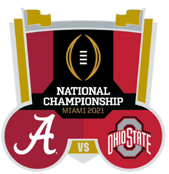 2021 BCS National Champs Dueling Pin - Alabama vs. Ohio State