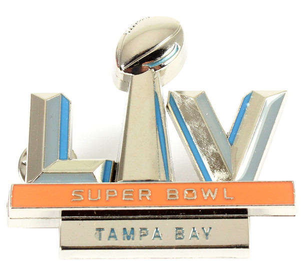 Super Bowl LV (55) Jumbo Logo Pin - 2""