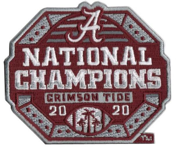 Alabama Crimson Tide 2020 BCS National Champs PATCH