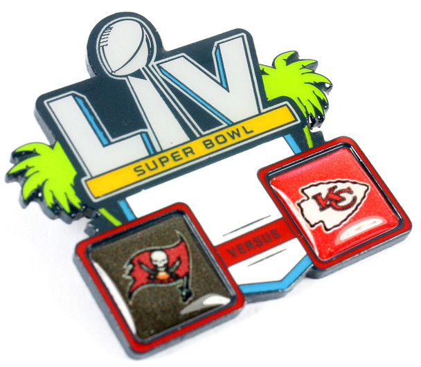 Super Bowl LV (55) Head To Head Pin - Buccaneers vs. Chiefs