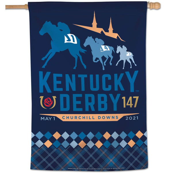 "2021 Kentucky Derby 147th Garden Flag 18"" x 12"""