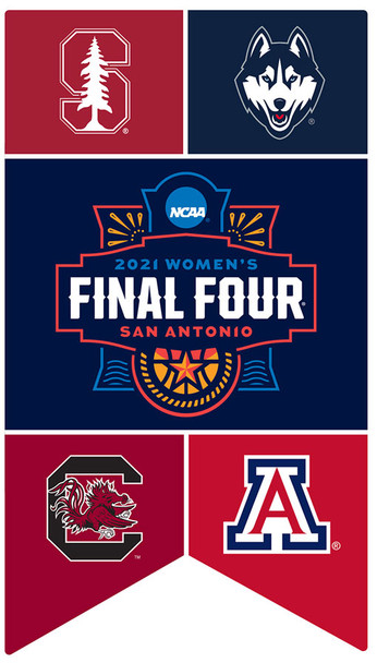 2021 Women's Final Four Dueling Teams Banner Pin