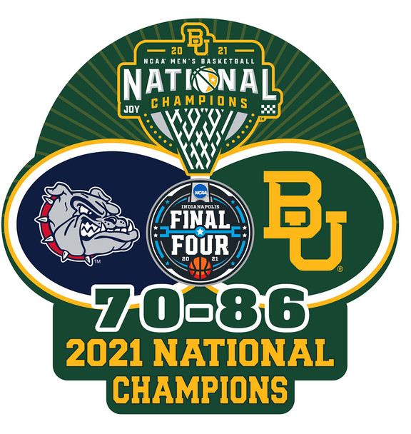 Baylor Bears 2021 Men's Final Four Champs Pin w/ Score