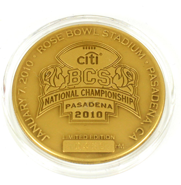 Alabama 2009 BCS Championship Commemorative Game Coin - Limited Edition