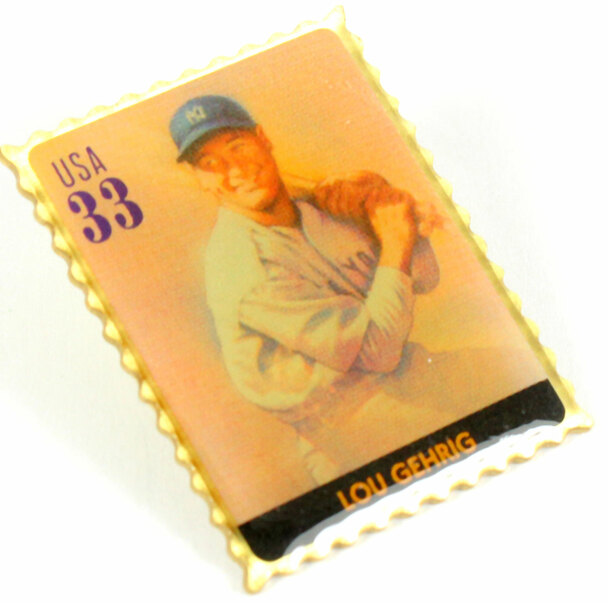 Lou Gehrig Legends of Baseball Stamp Pin