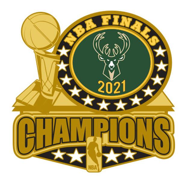 Milwaukee Bucks 2021 NBA Champions Trophy Pin