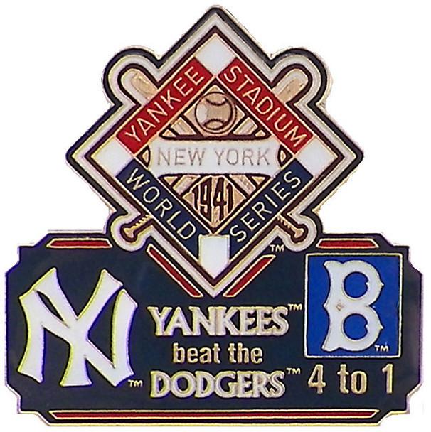 1941 World Series Commemorative Pin - Yankees vs. Dodgers