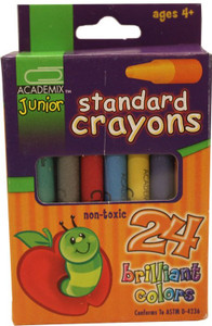 Standard Crayons (24 Brilliant Colors)