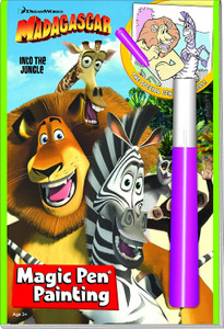Madagascar: Into the Jungle Magic Pen Painting (Paperback)