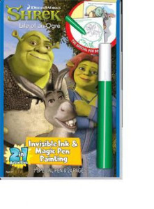 Shrek: Life of an Ogre Invisible Ink & Magic Pen Painting (Paperback)