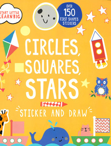 Circles, Squares, Stars: Sticker and Draw (Paperback)