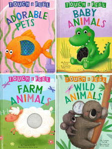 Animals Touch & Feel Set of 4 (Big Board Books)