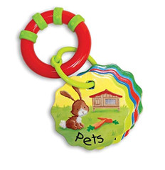 Baby Rattle Book: Pets (Board Book)