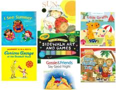 Sunny Summer Reading Challenge 2021: Set of 6 Books & Sidewalk Chalk!