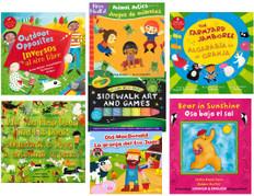 Sunny Summer Bilingual Reading Challenge 2021 (Spanish/English): Set of 6 Books & Sidewalk Chalk!
