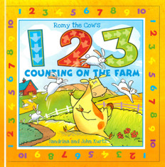 Romy The Cow's 123 Counting On The Farm (Board Book) Clearance Book/Non-Returnable