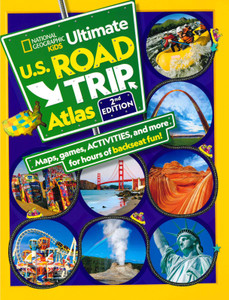 Kids Ultimate U.S. Road Atlas 2nd Edition (Paperback)-Clearance Book/Non-Returnable