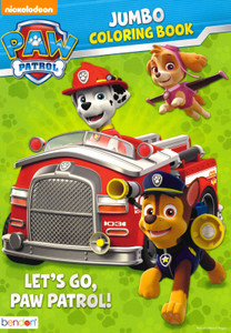 Let's Go Paw Patrol: Coloring Book (Paperback)