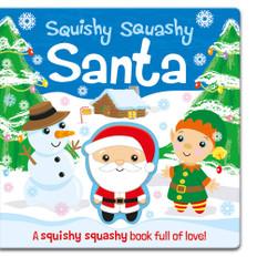 Squishy Squashy Santa (Board Book)-Clearance Book/Non-Returnable