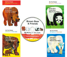 My First Reader Set of 4: Bear Books (CD Included) (Paperback)