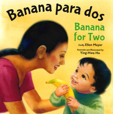 Banana for Two (Spanish/English) (Board Book)-Clearance Book/Non-Returnable
