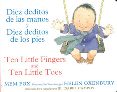 Ten Little Fingers and Ten Little Toes(Spanish/English) (Board Book)
