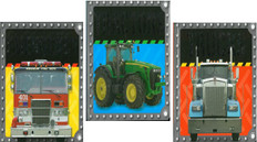 Trucks and Tractors (Padded Board Book) Set of 3