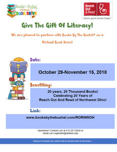 Reach Out And Read of Northwest Ohio: 20 Years, 20 Thousand Books Virtual Book Drive