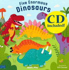 Five Enormous Dinosaurs: Classic Book with Holes (Paperback)
