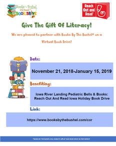 Iowa River Landing Pediatric Bells & Books: Reach Out And Read Iowa Holiday Book Drive