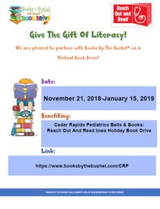Cedar Rapids Pediatrics Bells & Books: Reach Out And Read Iowa Holiday Book Drive
