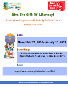 Eastern Iowa Health Center Bells & Books: Reach Out And Read Iowa Holiday Book Drive