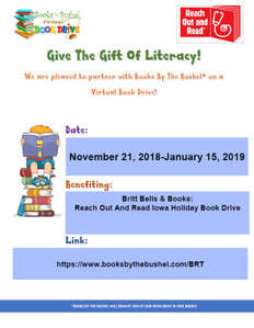 Britt Bells & Books: Reach Out and Read Iowa Holiday Book Drive