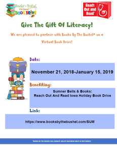 Sumner Bells & Books: Reach Out and Read Iowa Holiday Book Drive