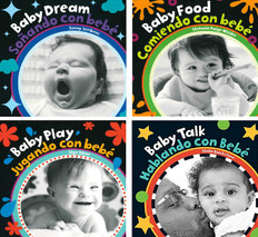 Baby's Day High Contrast Set of 4 (Spanish/English) (Board Book)