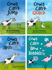 Lively and Lovable!  Jumping Cows Set of 4 (Paperback)