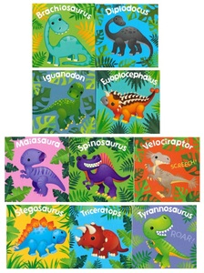My Little Dinosaur Library: Set of 10 (Chunky Board Books) 3 x 3 x .75 inches