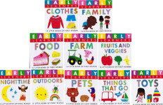 Early Learners First Words Set of 10 (Chunky Board Book) 3 x 3 x .75 inches