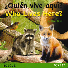 Who Lives Here? Forest (Spanish/English) (Board Book)