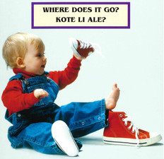 Where Does It Go? (Haitian Creole/English) (Board Book)