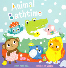 Animal Bathtime (Board Book)