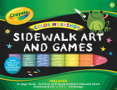 Color Workshop Sidewalk Art and Games By Crayola