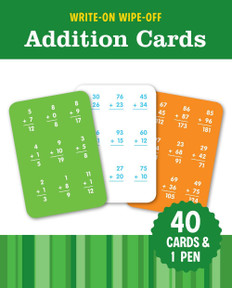 Write-On Wipe-Off  Addition Cards: Set of 40