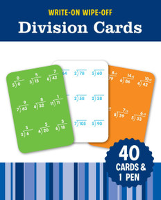 Write-On Wipe-Off Division Cards: Set of 40