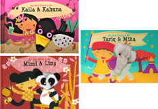 Friends Around the Globe! Finger Puppet Set of 3 (Board Book)