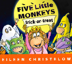 "Five Little Monkeys Trick-or-Treat (Board Book 7.5"" x 6.75"")"